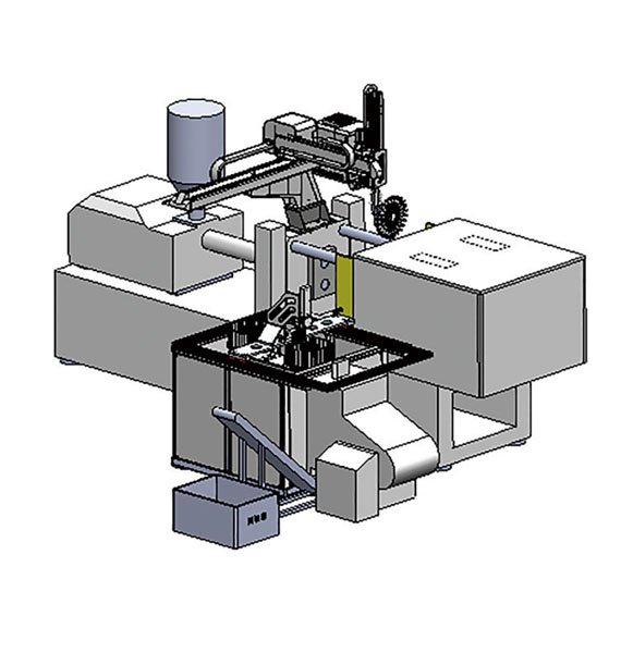 Automatic packaging for fork and spoon