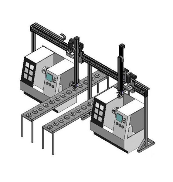 One - two scheme for numerical control lathes